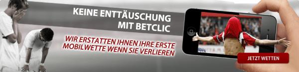 Betclic 10€ Erstattung für erste verlorene Mobilwette