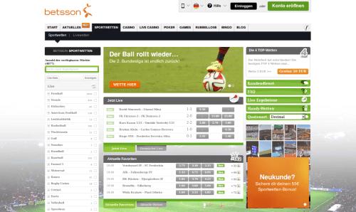 Betsson Website