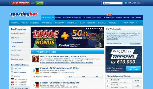 Sportingbet Website